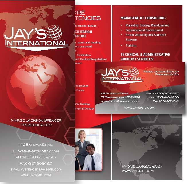 Graphics design whites printing jays international trifold business card reheart Images